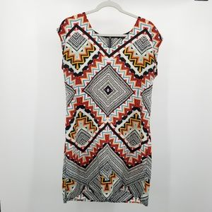 BeBop Dress Sleeveless Kaleidoscope Chevron L